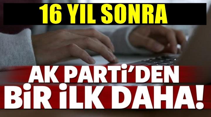 AK Parti'den 16 yıl sonra flaş karar