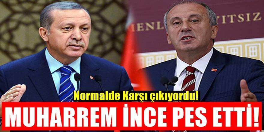 Muharrem İnce'den Erdoğan'a Karşı Flaş Hamle! Kararını duyurdu