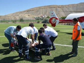Malatya, Darende'de Kalp Krizi Geçiren Memiş Gürbüz'ün İmdadına Hava Ambulansı Yetişti