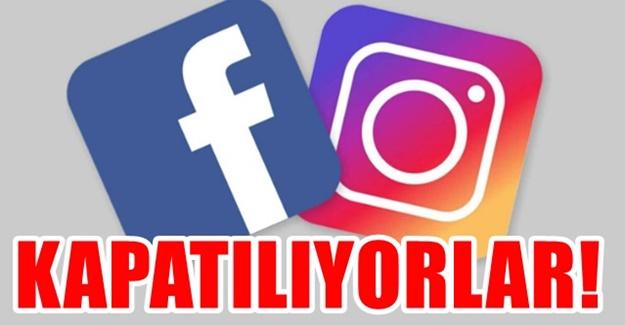 Instagram Facebook kapatılıyor bu geceden itibaren kıyım başlıyor