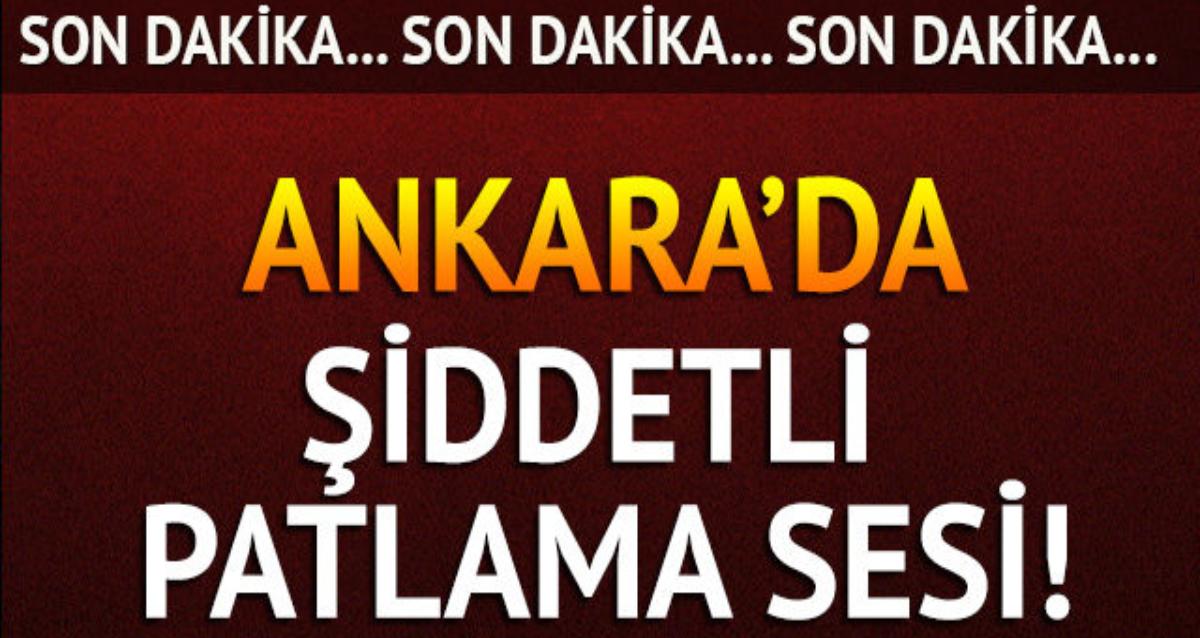 Ankara'da şiddetli patlama sesi ! Nedeni belli oldu