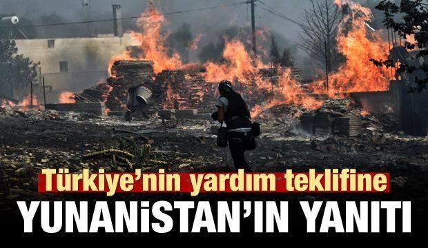 Türkiye'nin yardım teklifine Yunanistan'ın yanıtı