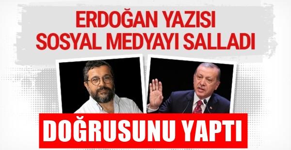 Soner Yalçın: Erdoğan nihayet doğrusunu yaptı