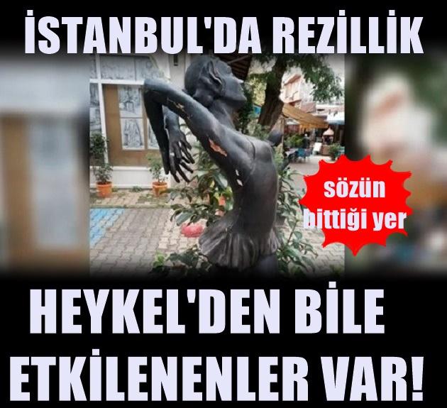 İstanbul'da balerin heykeline skandal girişim