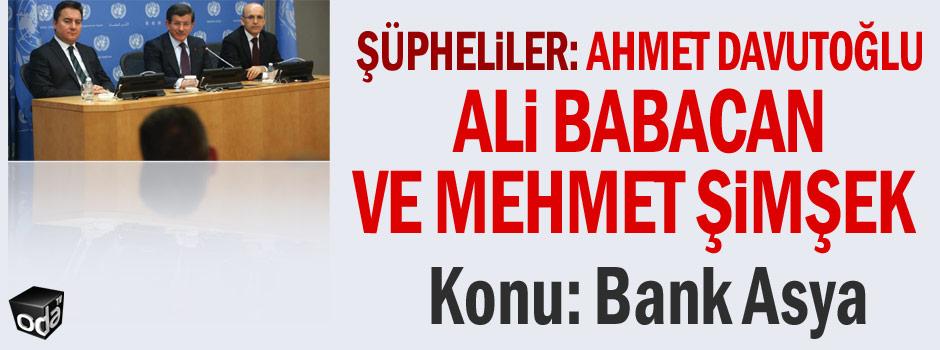 Ahmet Davutoğlu, Ali Babacan ve Mehmet Şimşek'e şok