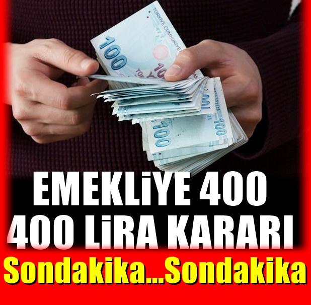 Emekliye 400 lira