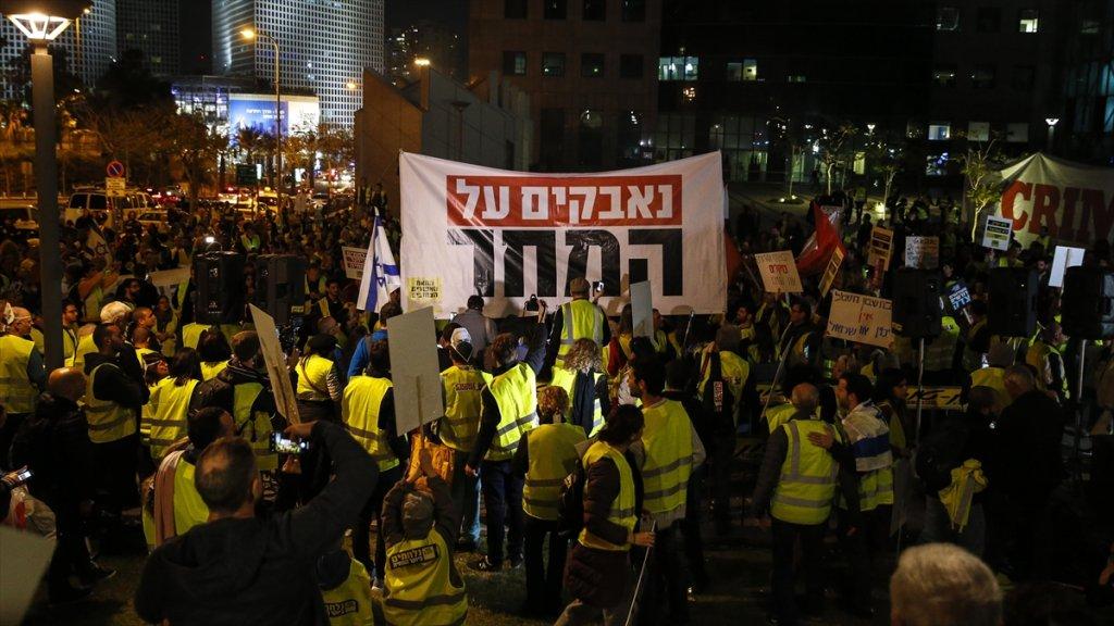 İsrail'de 'Sarı Yelekliler' Hayat Pahalılığını Protesto Etti