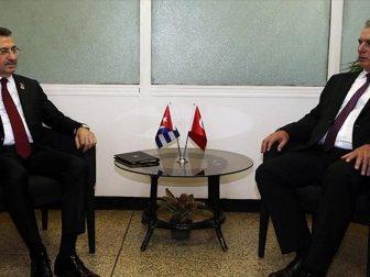 Cumhurbaşkanı Yardımcısı Oktay, Küba Devlet Başkanı Diaz Canel ile Görüştü