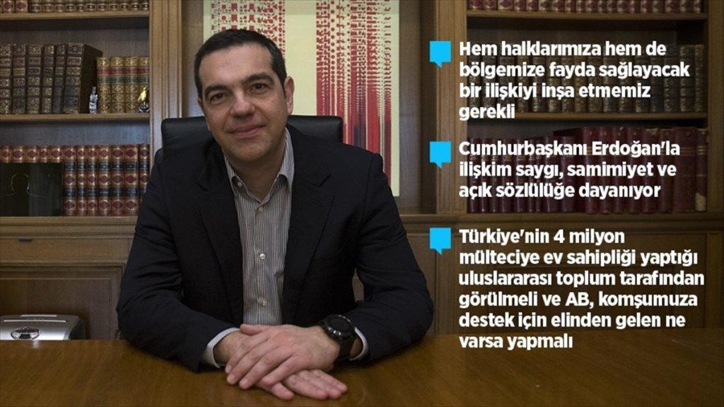 Yunanistan Başbakanı Çipras'dan özel açıklamalar
