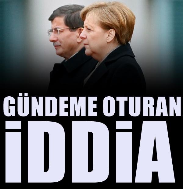 'Merkel ile Davutoğlu gizlice görüştüler' iddiası