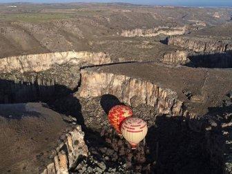 Kapadokya'da Turistlerin Balon Turunda Yeni Adresi 'Ihlara'