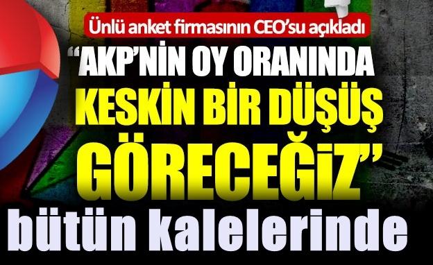 AKP'nin oy oranında keskin düşüş