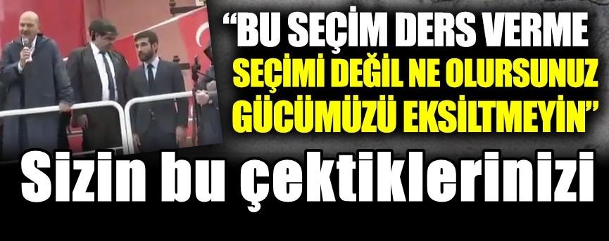 AKP mitinginde konuştu : ne olursunuz gücümüzü eksiltmeyin
