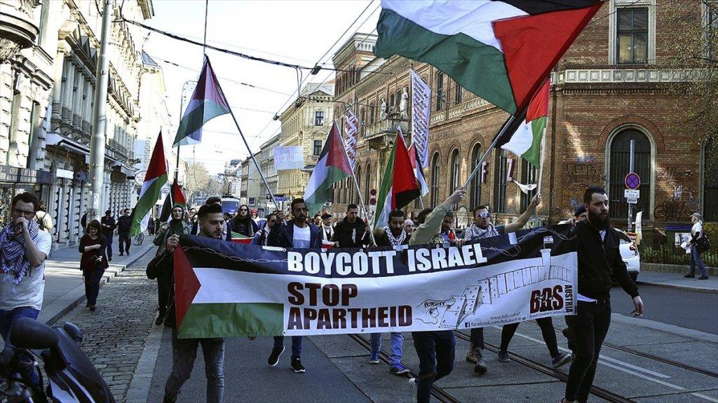 Avusturya'da İsrail Ve Abd Karşıtı Gösteri