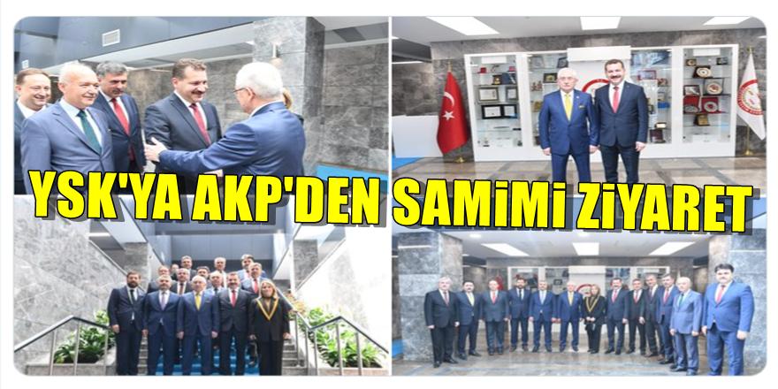 YSK Başkanı'na AKP'den dikkat çeken ziyaret