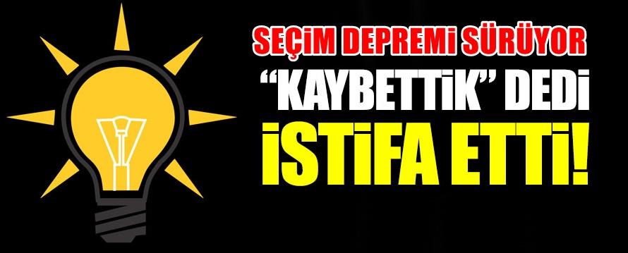 AKP'de Seçim istifaları sürüyor