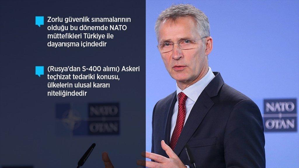 Nato Genel Sekreteri Stoltenberg Aa'ya Konuştu