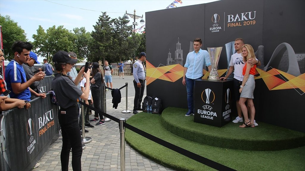 Bakü'de Uefa Avrupa Ligi Finali Coşkusu
