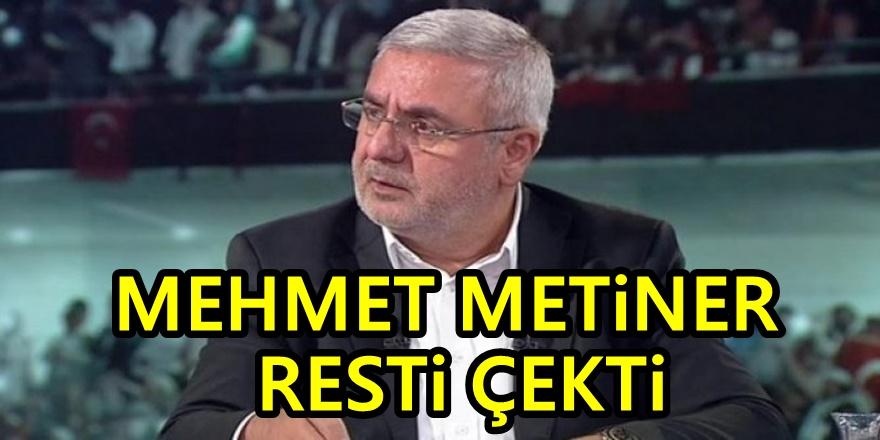 AKP'li Metiner böyle seslendi: Oyunuzun rengini açıklayın, yeter!