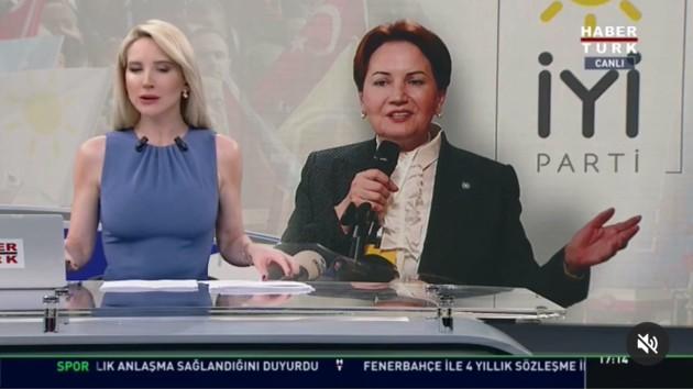 Habertürk TV Akşener'in damat eleştirisini sansürledi?