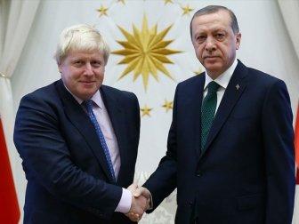 Erdoğan'dan İngiltere Başbakanı Johnson'a Tebrik