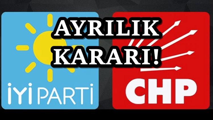 iYİ parti'den CHP'den ayrılık açıklaması