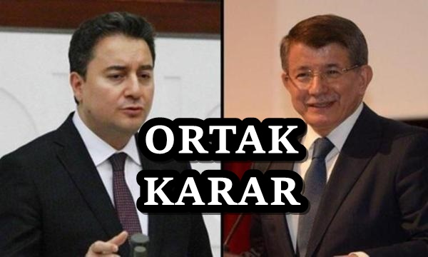 Ahmet Davutoğlu ve Ali Babacan'dan ortak karar!