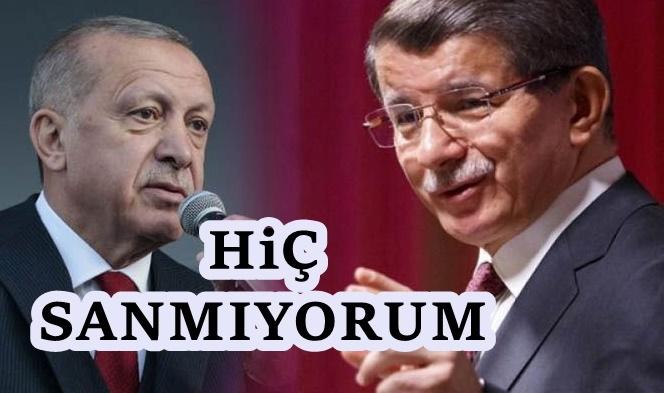 Davutoğlu cephesinden Erdoğan'a yanıt