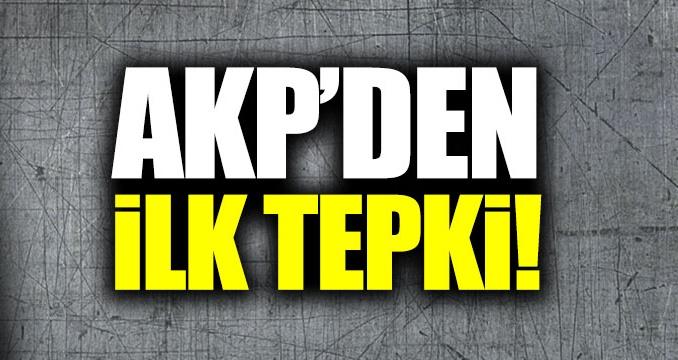 AKP'deki bölünme sonrası ilk açıklama