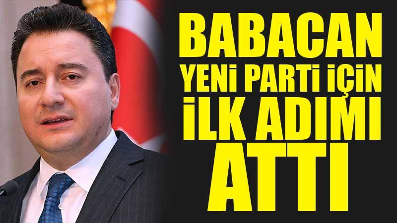 Ali Babacan'ın partisinin ilk maddesi belli oldu