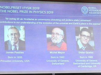 2019 Nobel Fizik Ödülü'nü Kazananlar Açıklandı