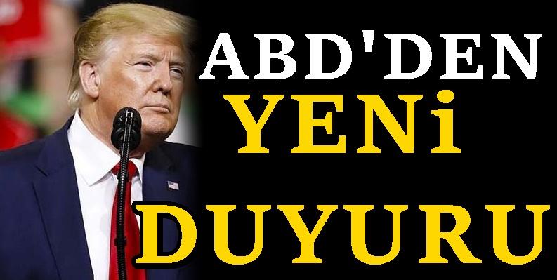 ABD Başkanı Trump'tan bir Türkiye açıklaması daha