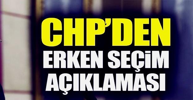 CHP: Türkiye yeni bir seçim sürecine giriyor