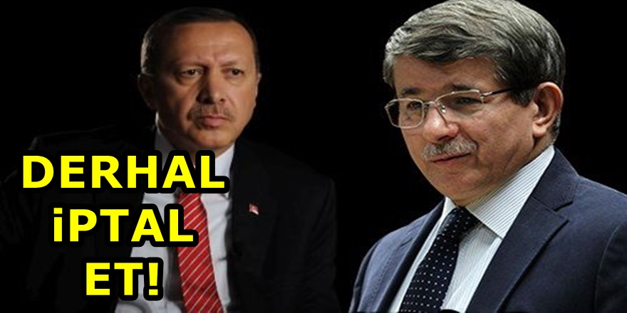 Davutoğlu'ndan Erdoğan'a çağrı