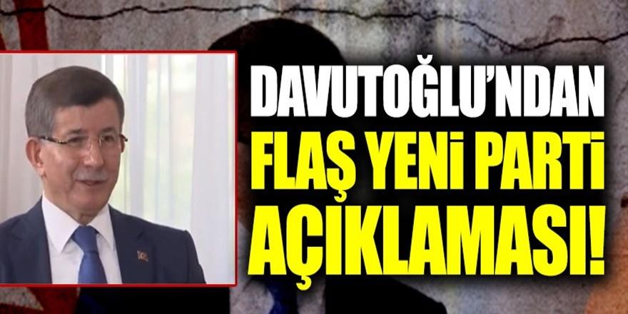 Davutoğlu'ndan ''Parti kurmak için paranız var mı?'' sorusuna yanıt
