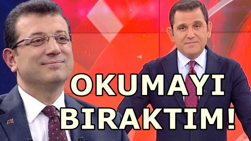 Fatih Portakal'dan İmamoğlu'nun ekibine uyarı