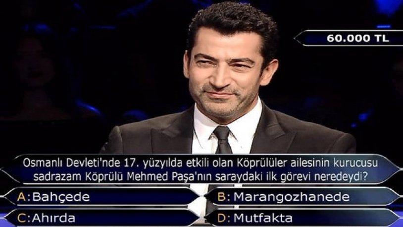 Kim Milyoner Olmak İster'e damga vuran Köprülü Mehmet Paşa sorusu!