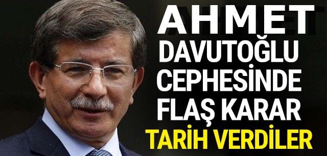 Davutoğlu'nun partisi ilan ediliyor : Tarih verdiler