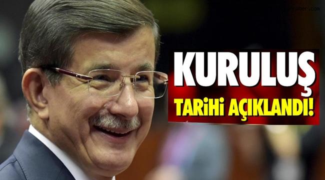 Davutoğlu'nun partisinin adı Bizim Parti