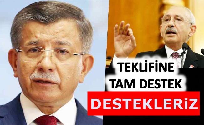 Davutoğlu'nun  çağrısına Kılıçdaroğlu'ndan destek