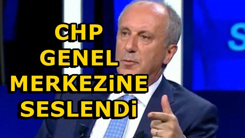 Muharrem İnce'den CHP Genel Merkezine Yeni Çağrı!