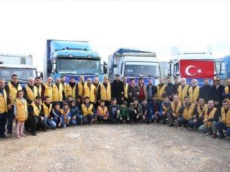 İyilik-Der'den Türkiye Sınırına Göç Eden Suriyelilere Yardım