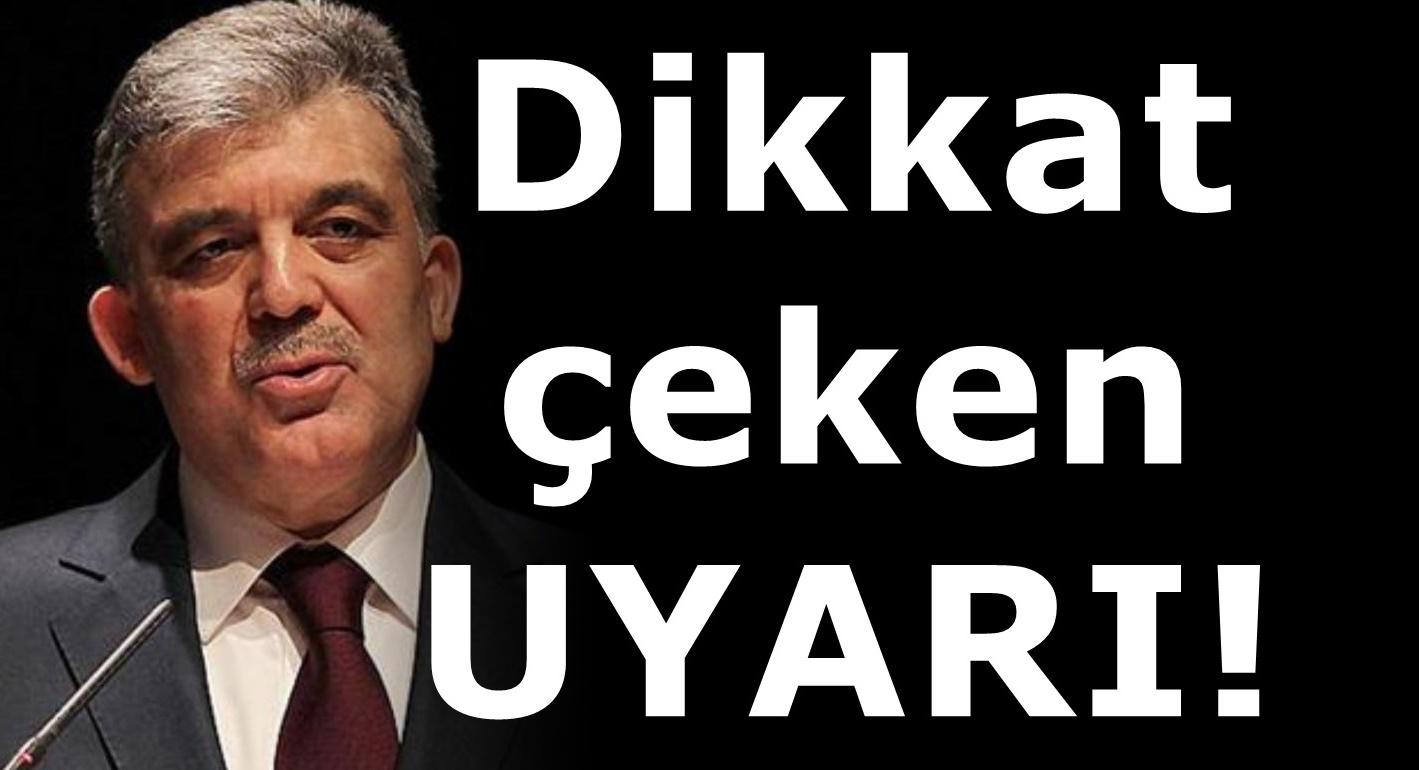 Abdullah Gül'den AKP'yi kızdıracak Elazığ Açıklaması