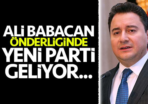 Ali Babacan Partisini ilan ediyor