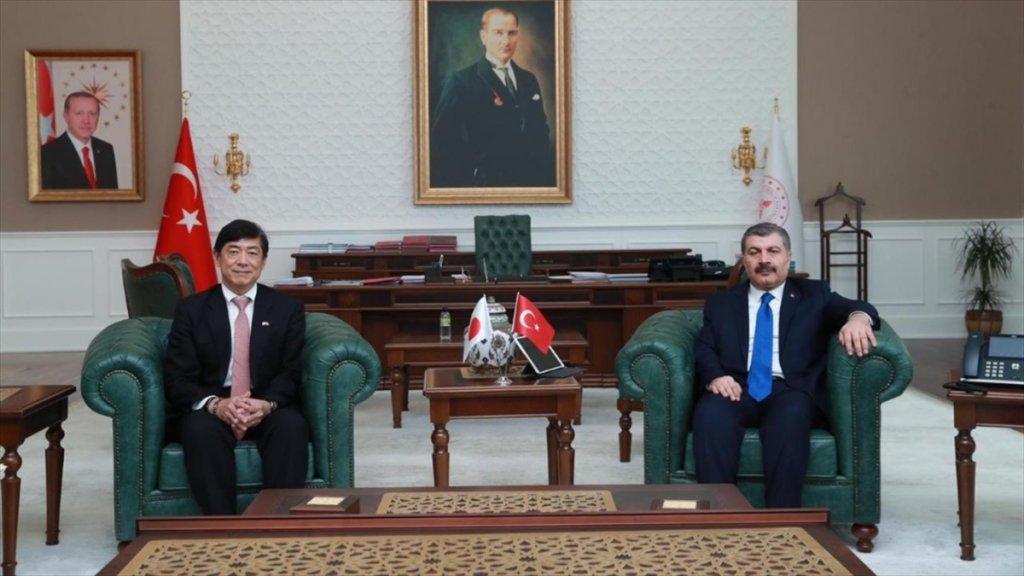 Koca, Japonya'nın Ankara Büyükelçisi İle Koronavirüsü Görüştü