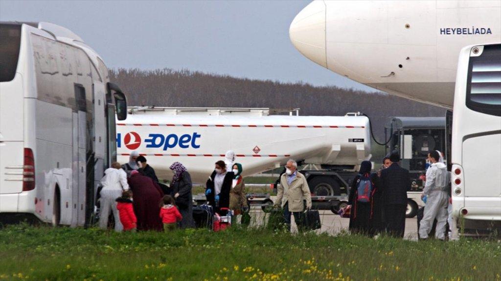 Almanya'da bulunan 448 Türk vatandaşı Türkiye'ye Getirildi