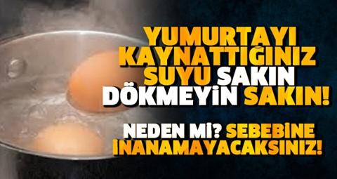 Kaynamış yumurta suyunu sakın dökmeyin bu şekilde kullanın..