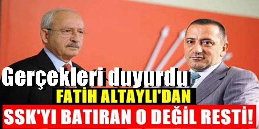 Fatih Altaylı rest çekerek duyurdu - SSK'yı batıran Kılıçdaroğlu değildir..