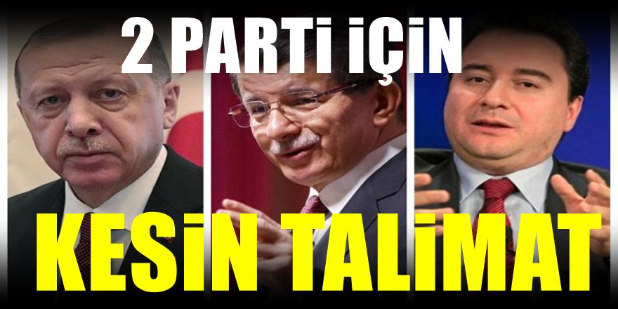 Erdoğan'ın Ali Babacan ve Davutoğlu'nun partileri için söylediği söz belli oldu