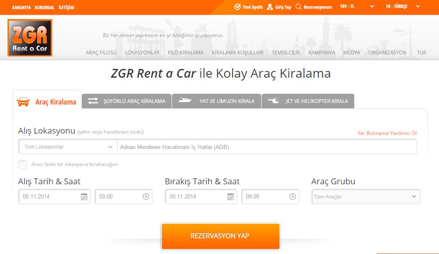İzmir'in en güçlü rent a car ağı: ZGR oto kiralama